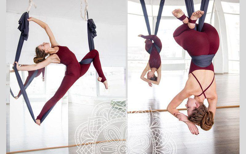 Các động tác của bộ môn Yoga võng thường tập trung kéo căng cơ thể