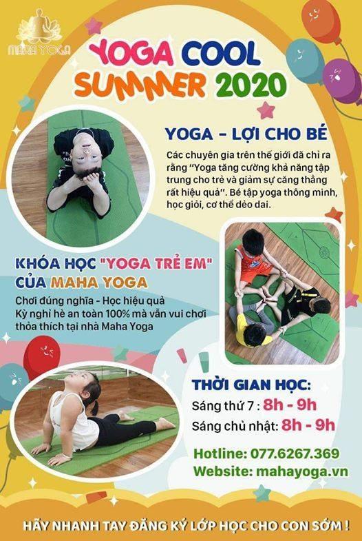 Thông tin khóa học YogaKids tại Mahayoga Bình Dương